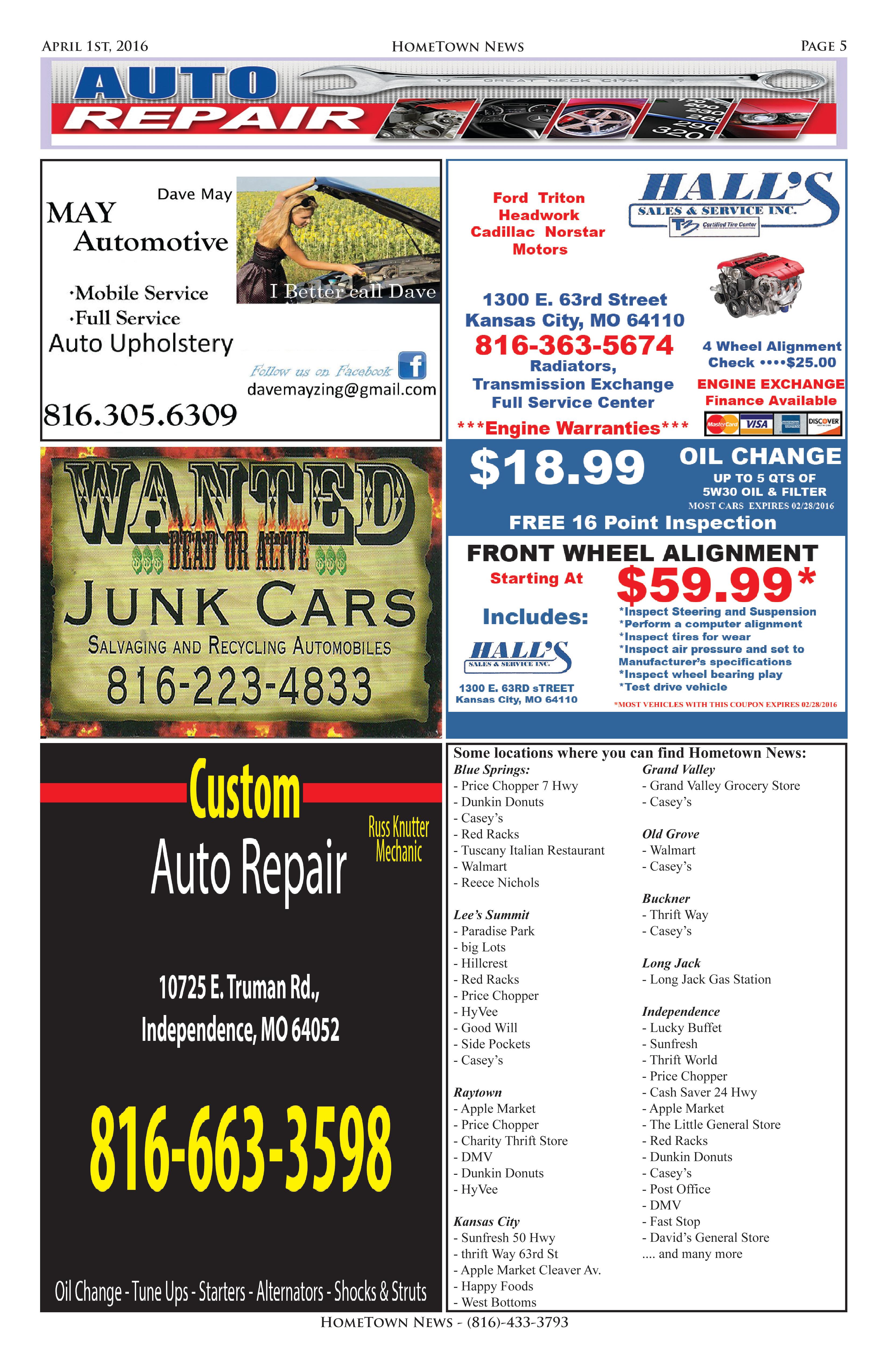 HTN9 - 5 -  Auto Repair