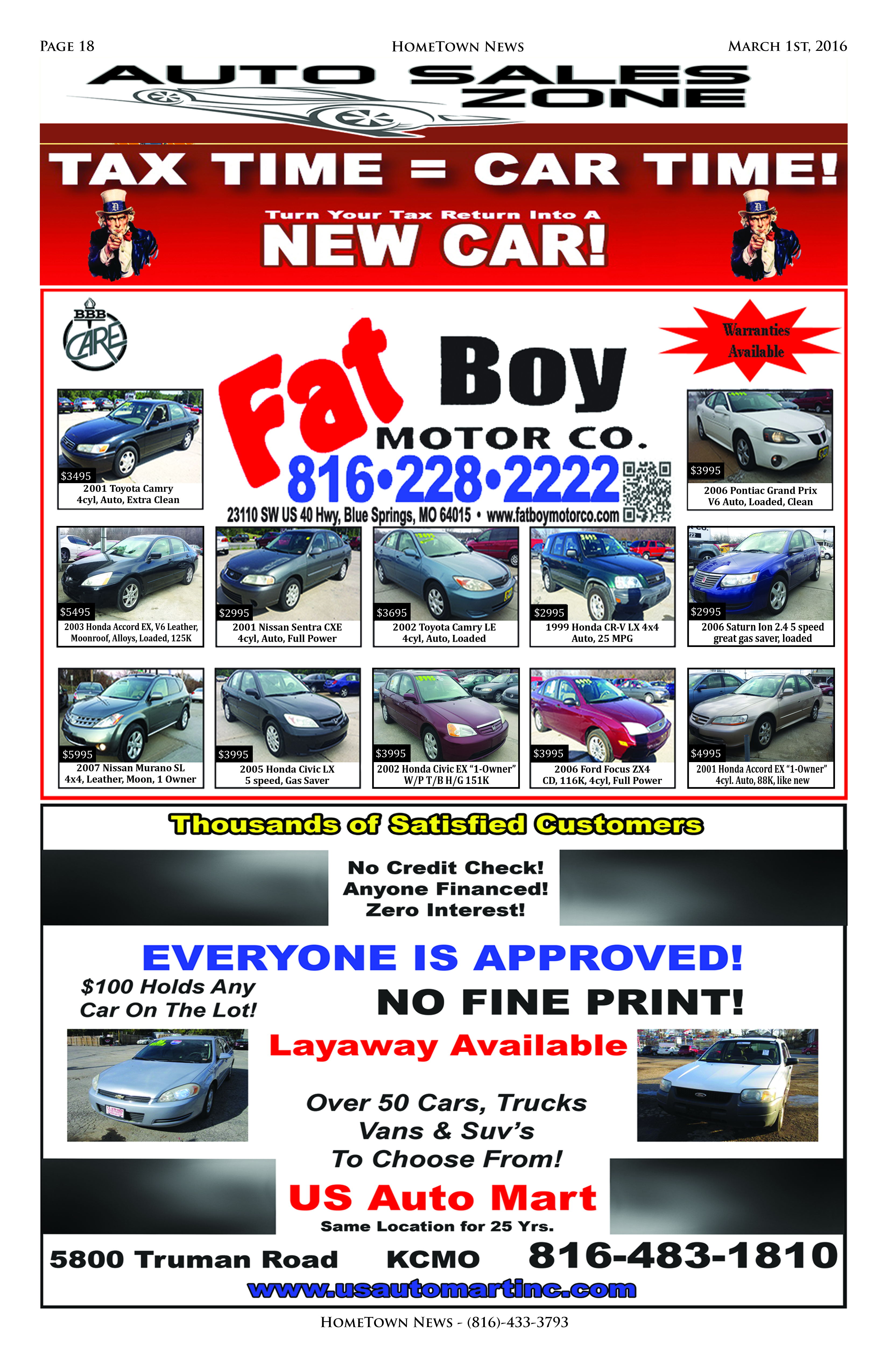 HTN8 - 18 - Auto Sales