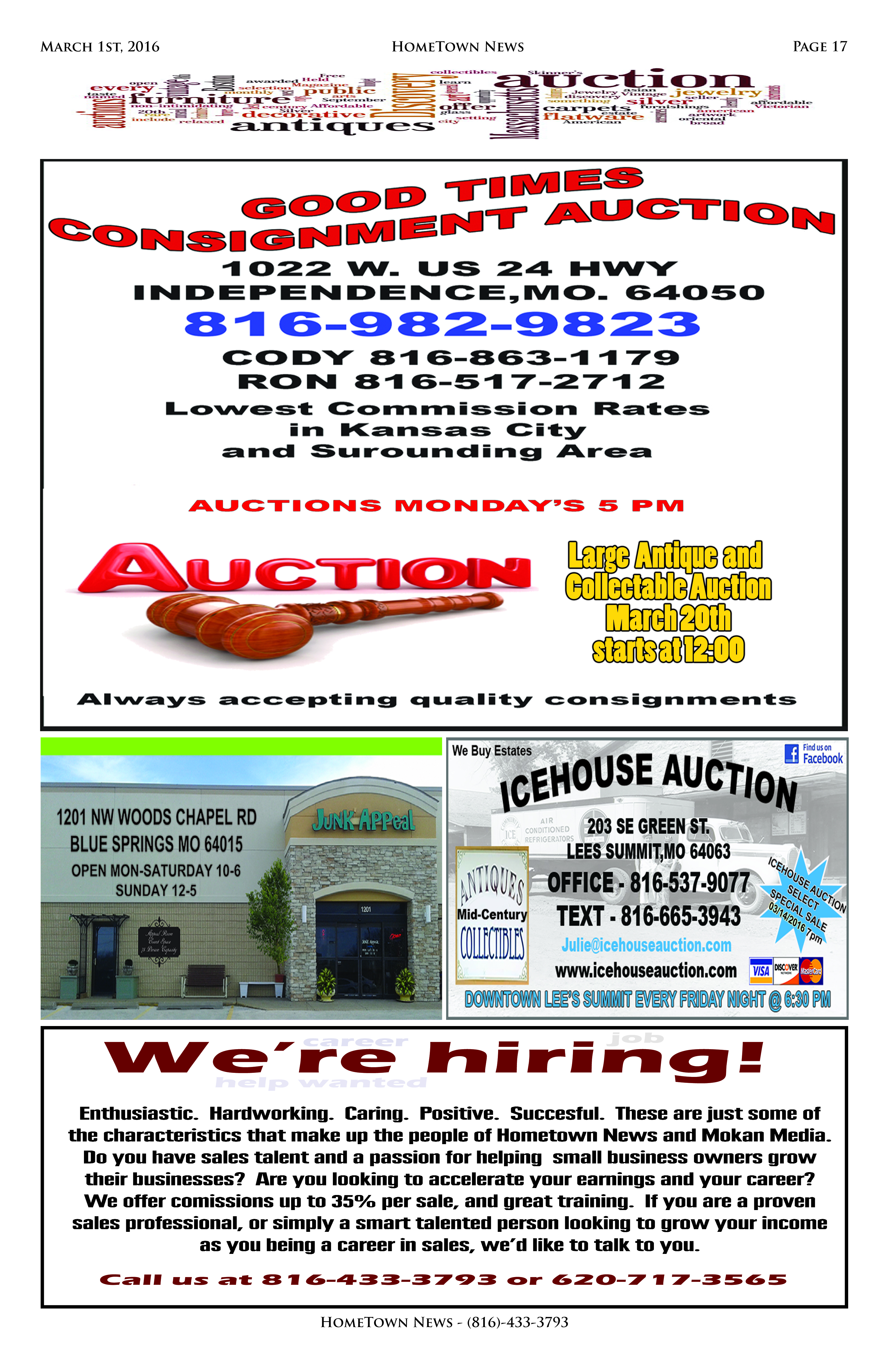HTN8 - 17  Auction Antiques