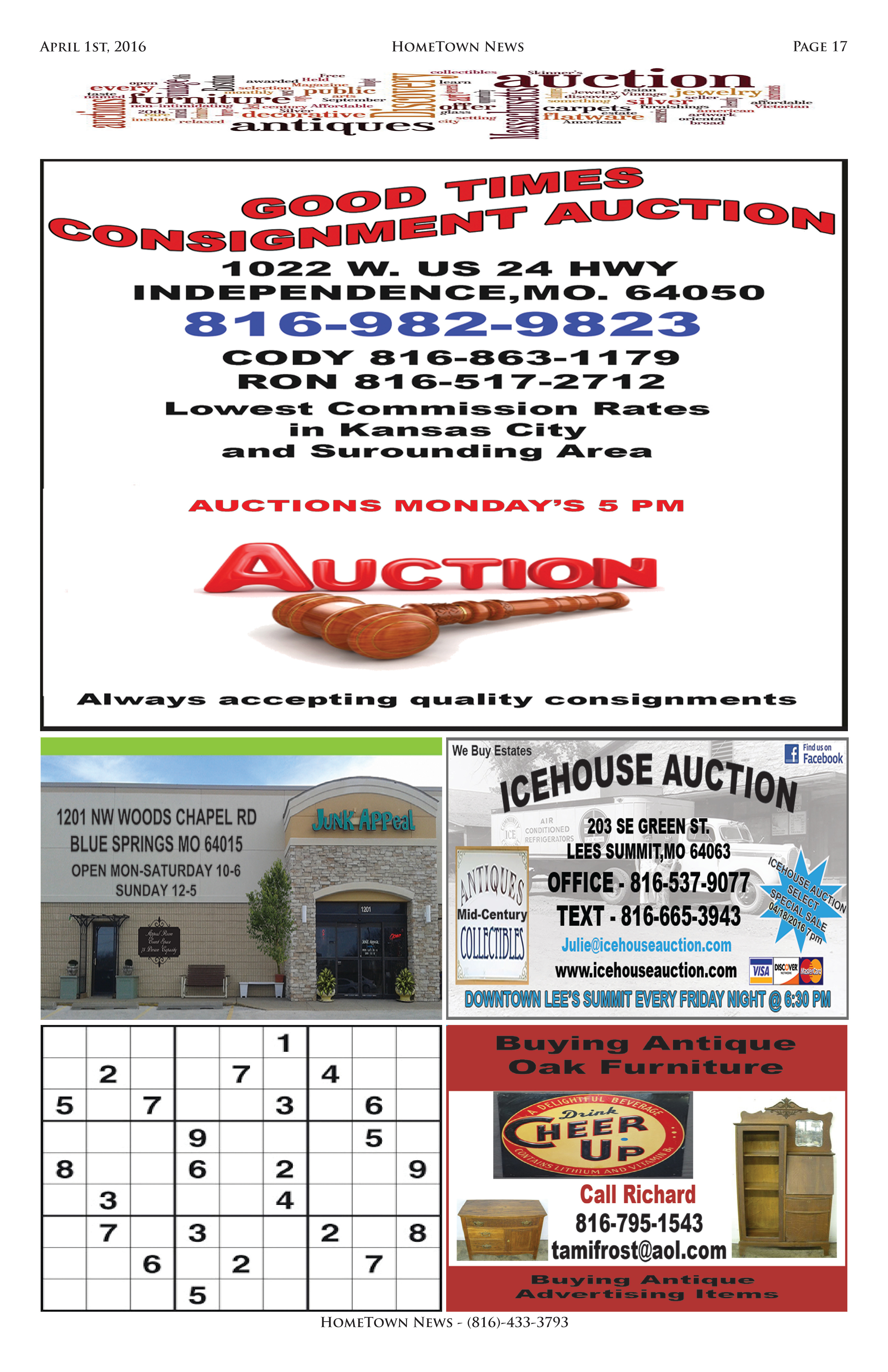 HTN9 - 17  Auction Antiques