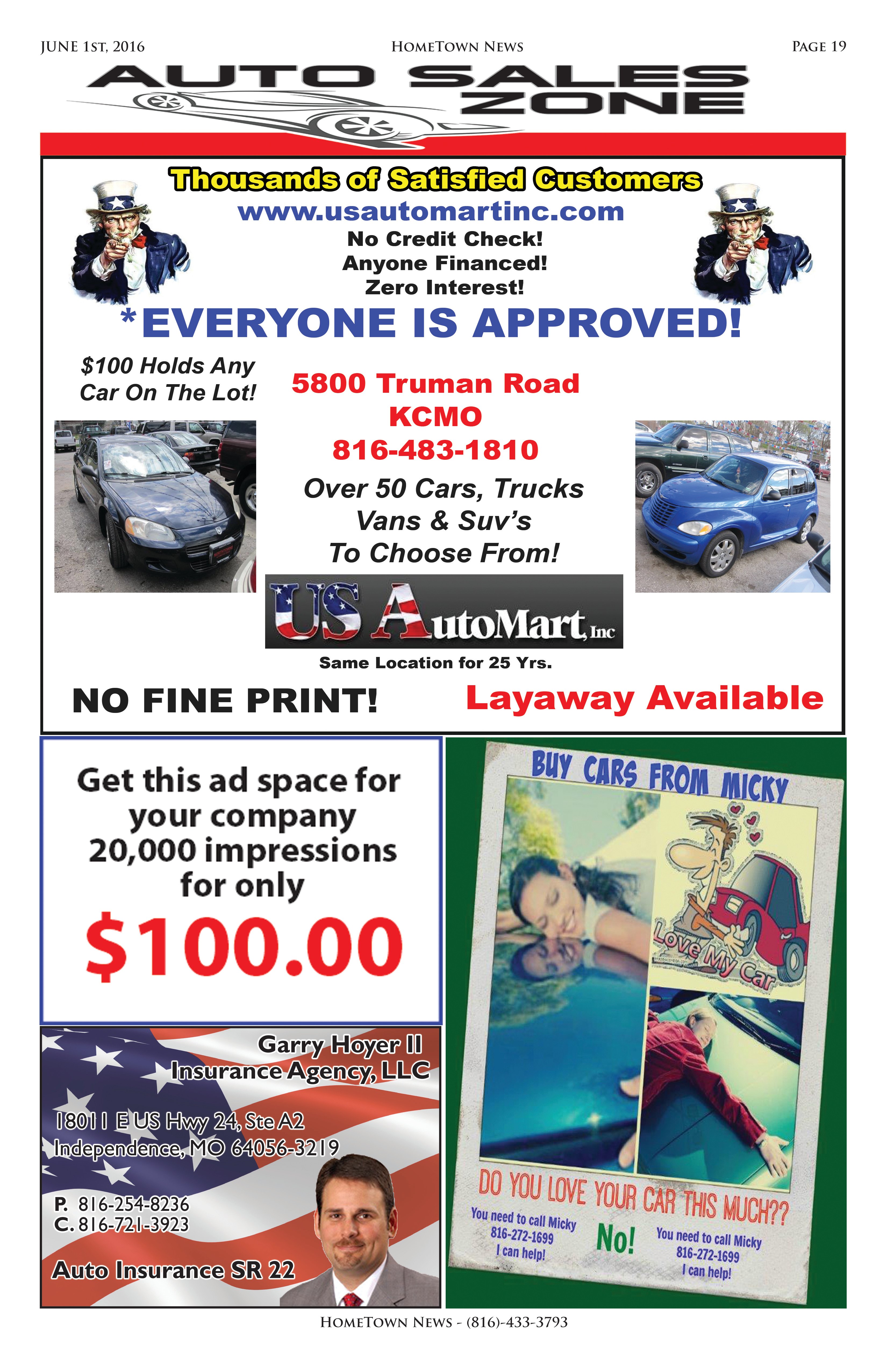 HTN11 - 19 - Auto Sales