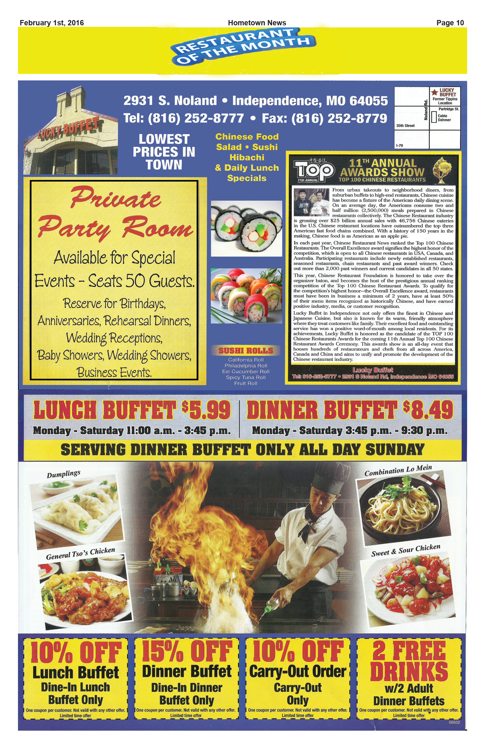 Page 10 Featured Restaurant