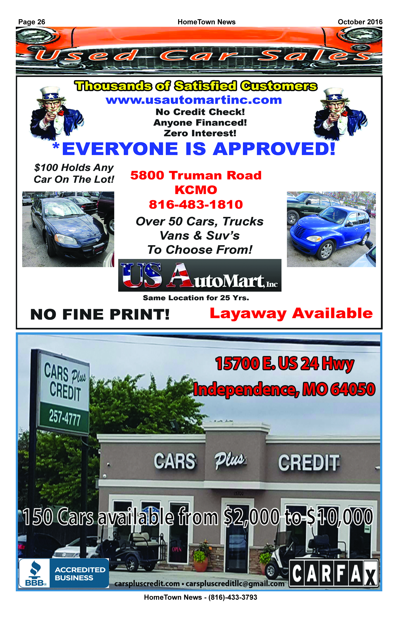 HTN15 - 26 - Auto Sales
