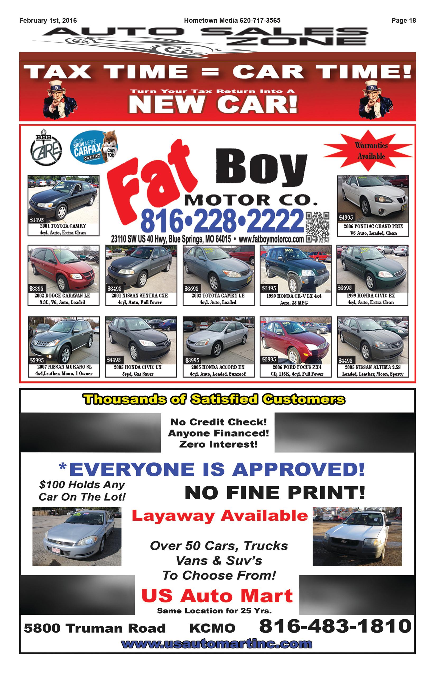 Page 18 Auto Sales