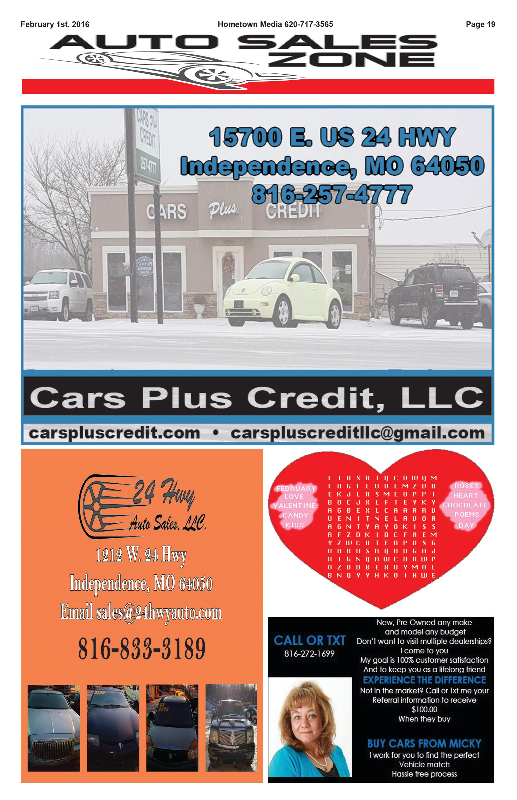 Page 19 Auto Sales