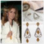 Katherine Jenkins wearing Two-tone Geo-earrings