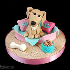 Too cute! Pup in her basket