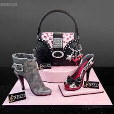 Shop 'til you drop 40th birthday cake