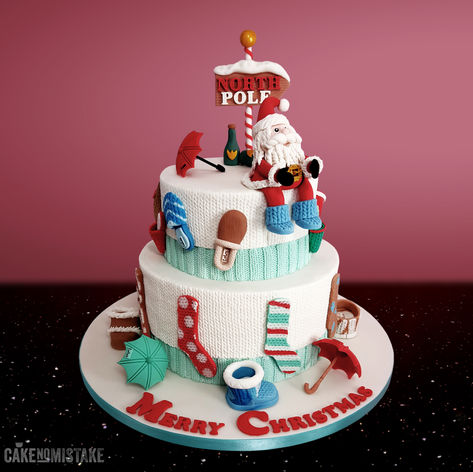 A jolly Crimbo cake for all the lovely folks at Totes UK