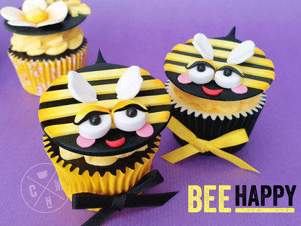Sleepy Bee Cupcake Topper