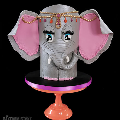 Double barrel Elephant Cake