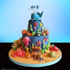 Under the Sea. A very bubbly birthday cake!