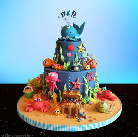 Under the Sea. A very bubbly birthday cake!