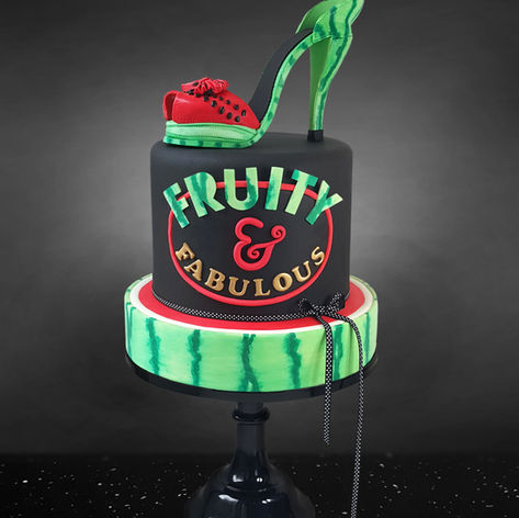 Watermelon sugar shoe birthday cake