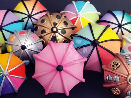Rainbow Umbrella Cake Topper