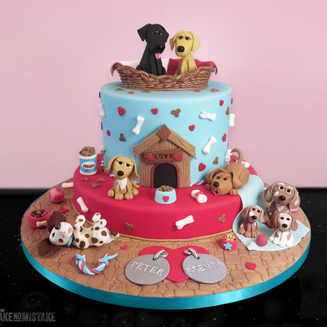 Doggie Cake for a Ruby Wedding Anniversary