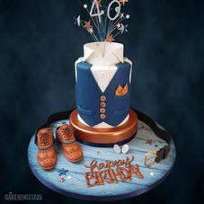 Gentleman's 40th Birthday Cake