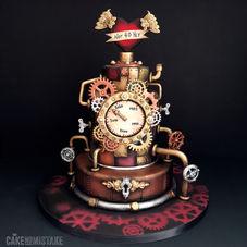 The Decade Eraser. Steampunk time machine cake