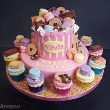Treat Box Birthday Cake & Cupcake Combo