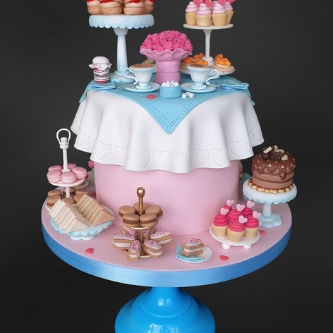 Afternoon Tea Celebration Cake