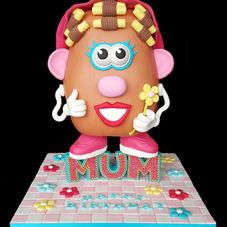 Mrs Potato Head... in her rollers