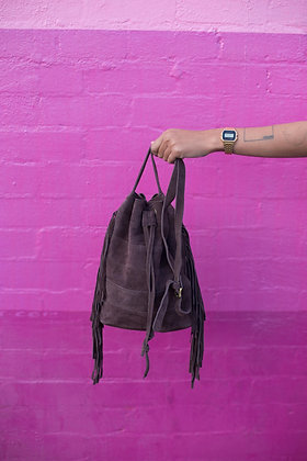 Loa Suede Bucket Bag - Coffee