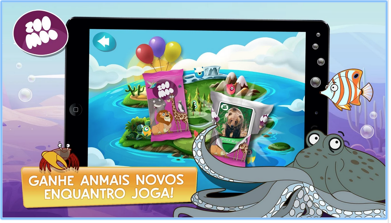 "APP Mobile na TV ""Ilha ZooMoo"""