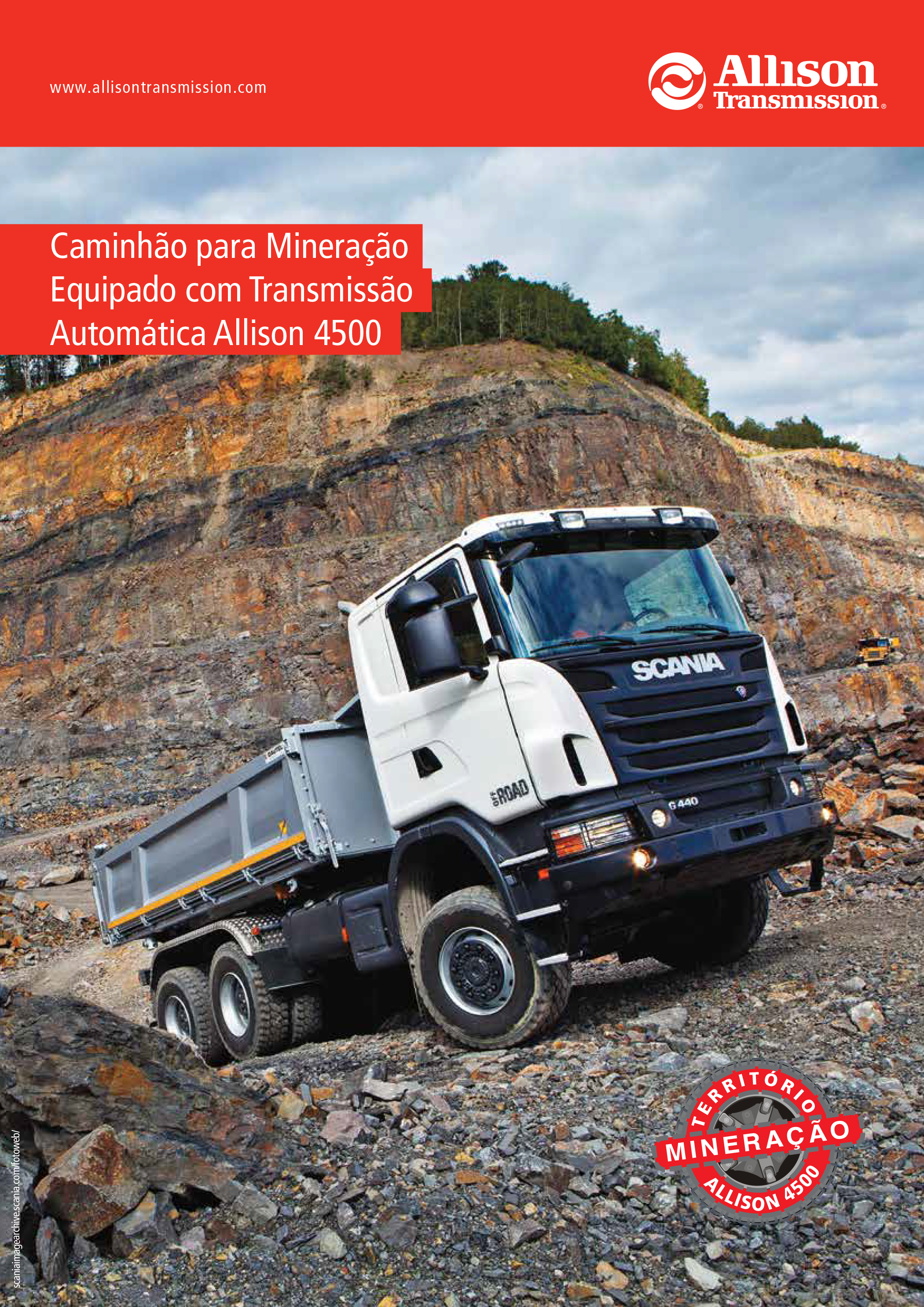Folder Scania Mineração