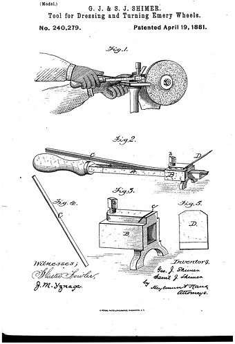 Patent Tools for Dressing and Turning Emery Wheels