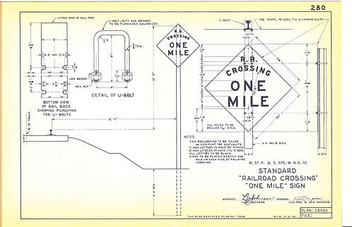 Railroad Crossing One Mile