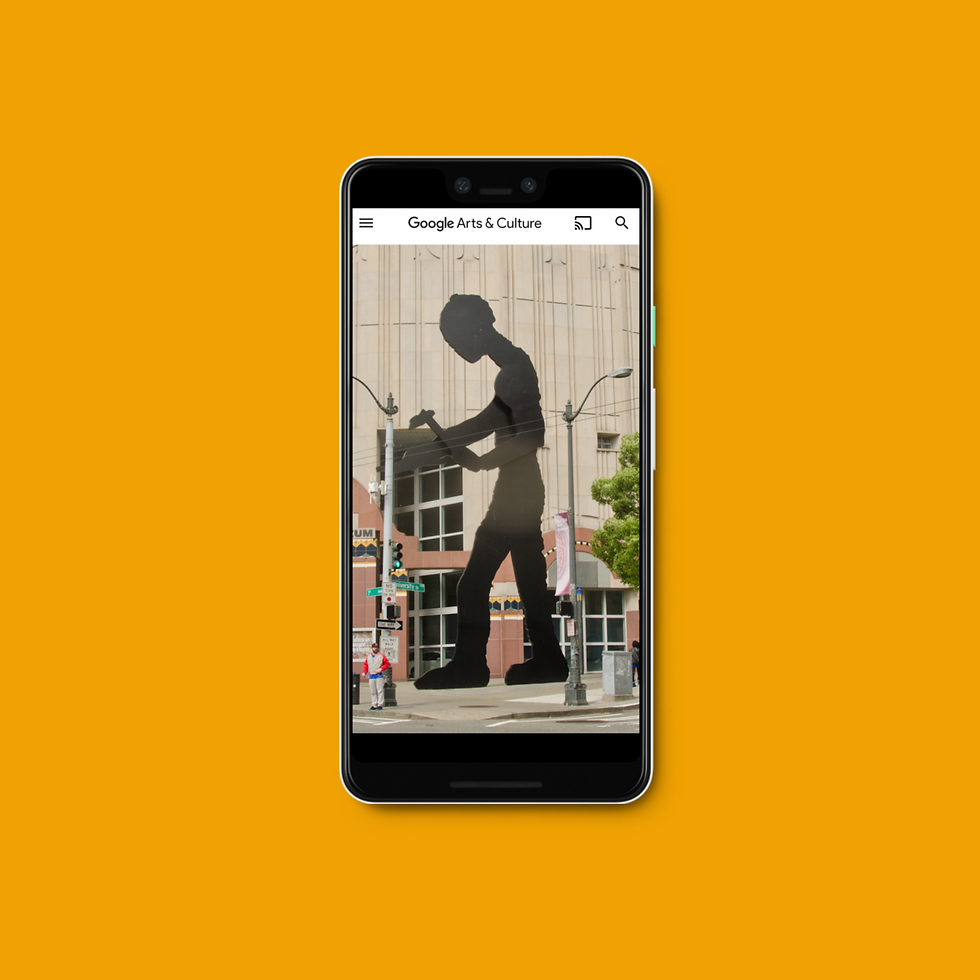 Google Arts and Culture Art Discovery Mockup