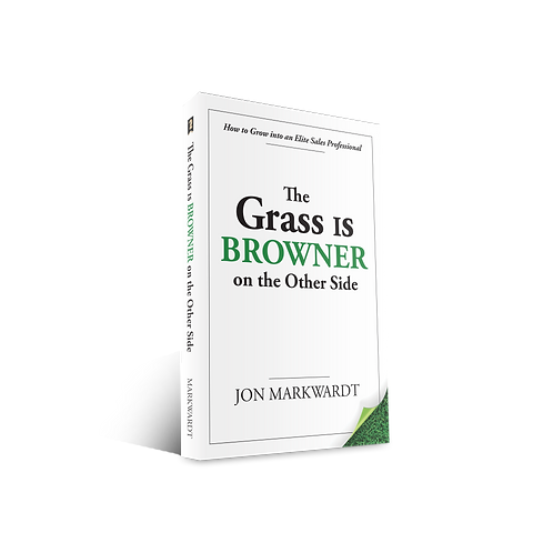"Autographed Hardcover ""The Grass is Browner on the Other Side"""