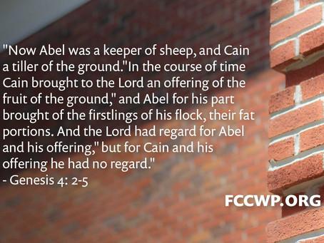"""Daily Meditation: """"Cain"""""""