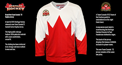Team Canada 1972 Replica Jersey