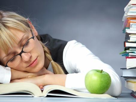 Los exámenes y dormir bien