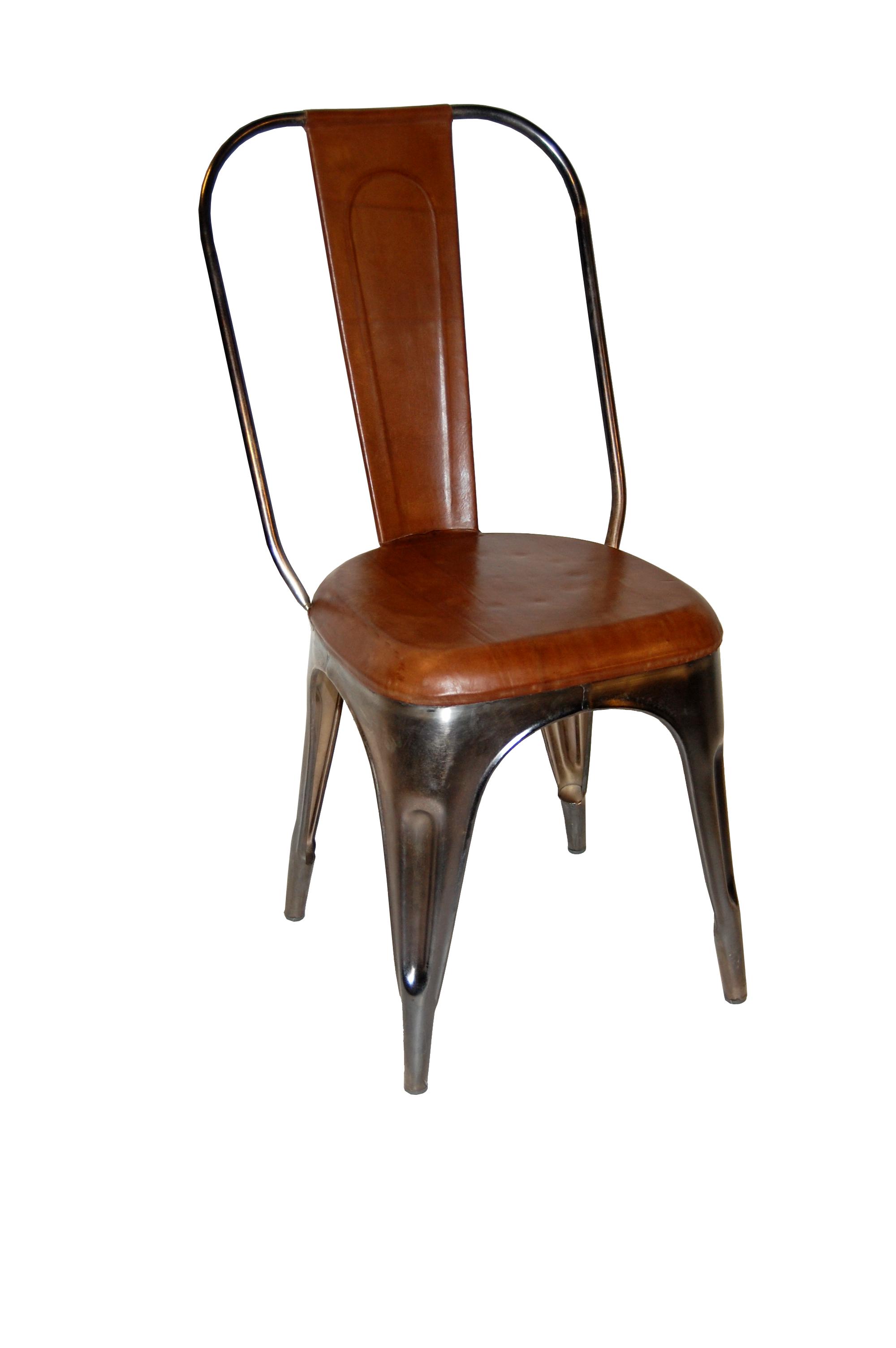 Plåtstol med antikläder