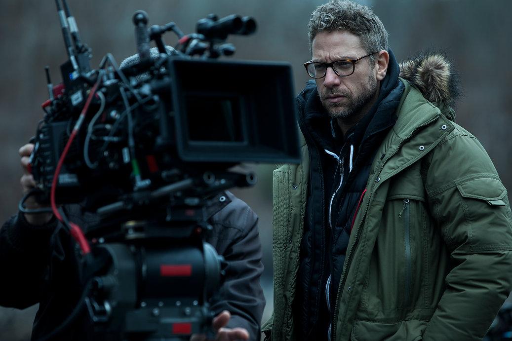 Cinematographer Ben Kutchins on te sets of Ozark. Ozark Behind The Scenes. Image Courtesy of Netflix.