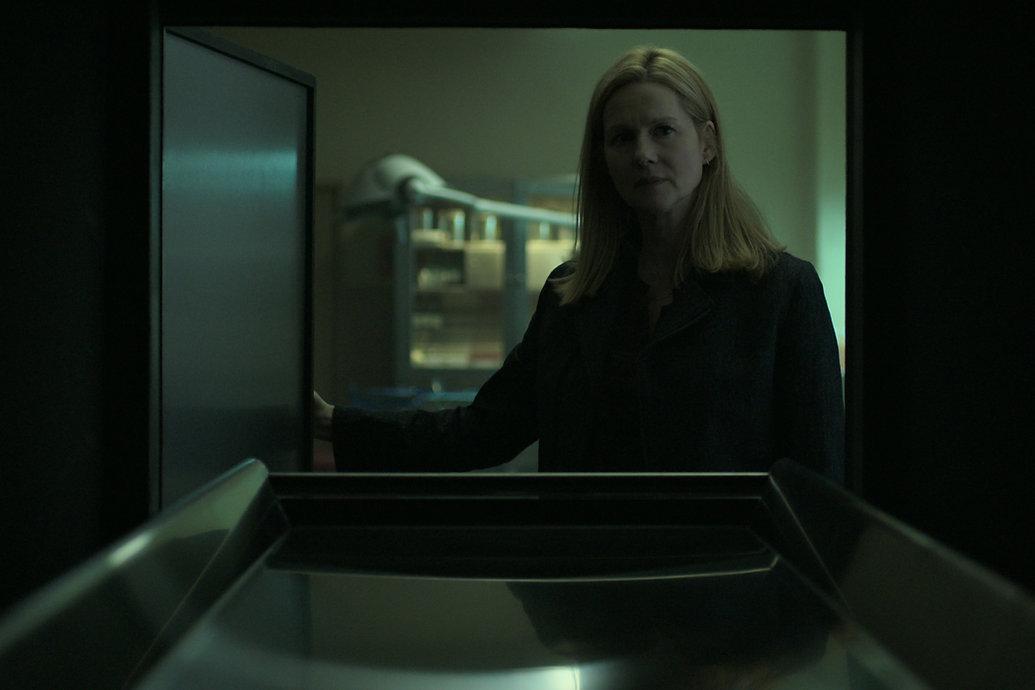 Laura Linney in Ozark. Cinematographer Ben Kutchin's Interview. Image Courtesy of Netflix.