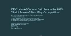 Devil-in-a-Box winning announcement