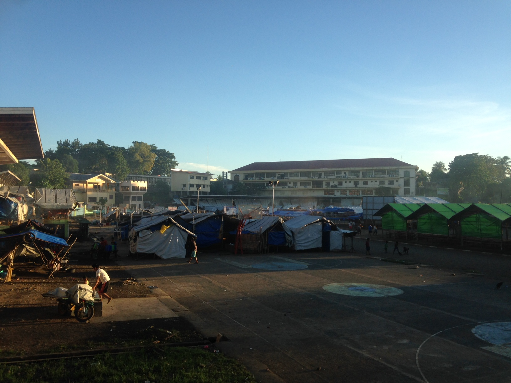 Monobo Evacuation Centre at dawn