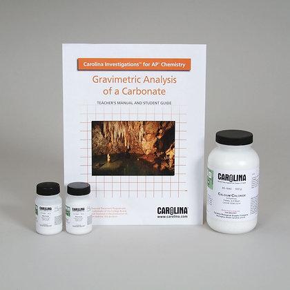 Carolina Investigations® for AP® Chemistry: Gravimetric Analysis of a Carbonate
