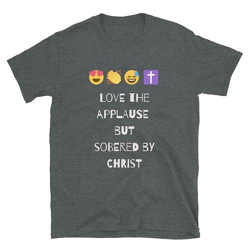 Sobered by Christ Emoticon Short-Sleeve Unisex T-Shirt