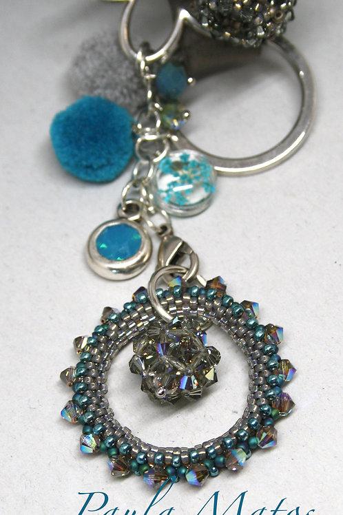 Schlüsselanhänger Blau-Grau