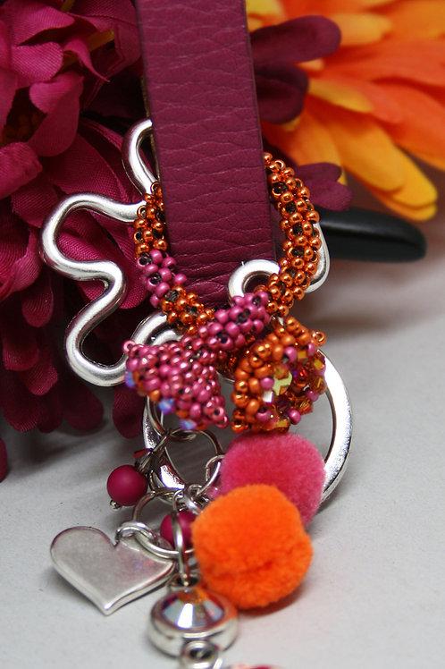 Schlüsselanhänger Pink - Orange