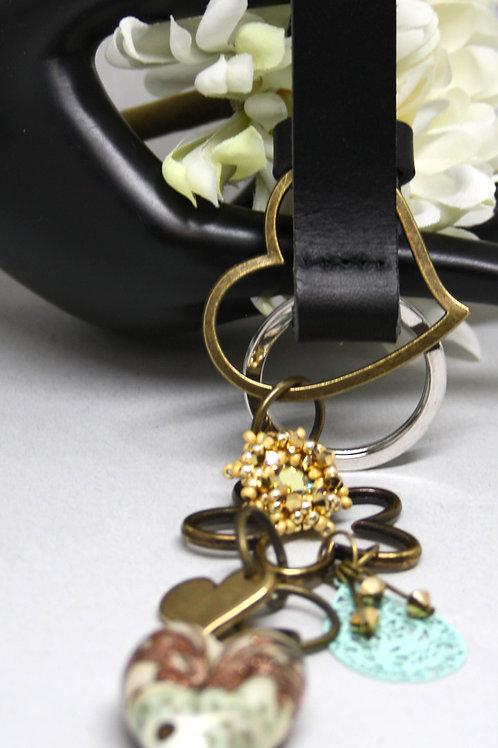 Schlüsselanhänger Schwarz - Alt Gold