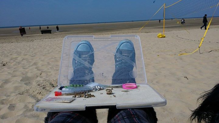 Sogar am Strand...