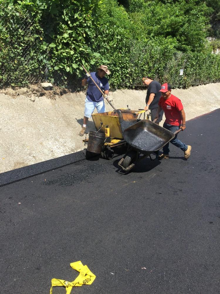 Asphalt Curbing Installation