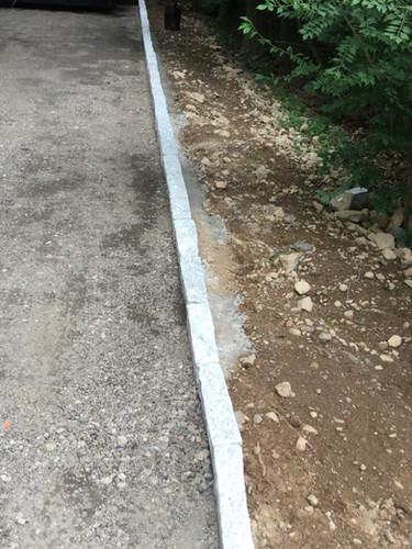 Granite curbing Installed.