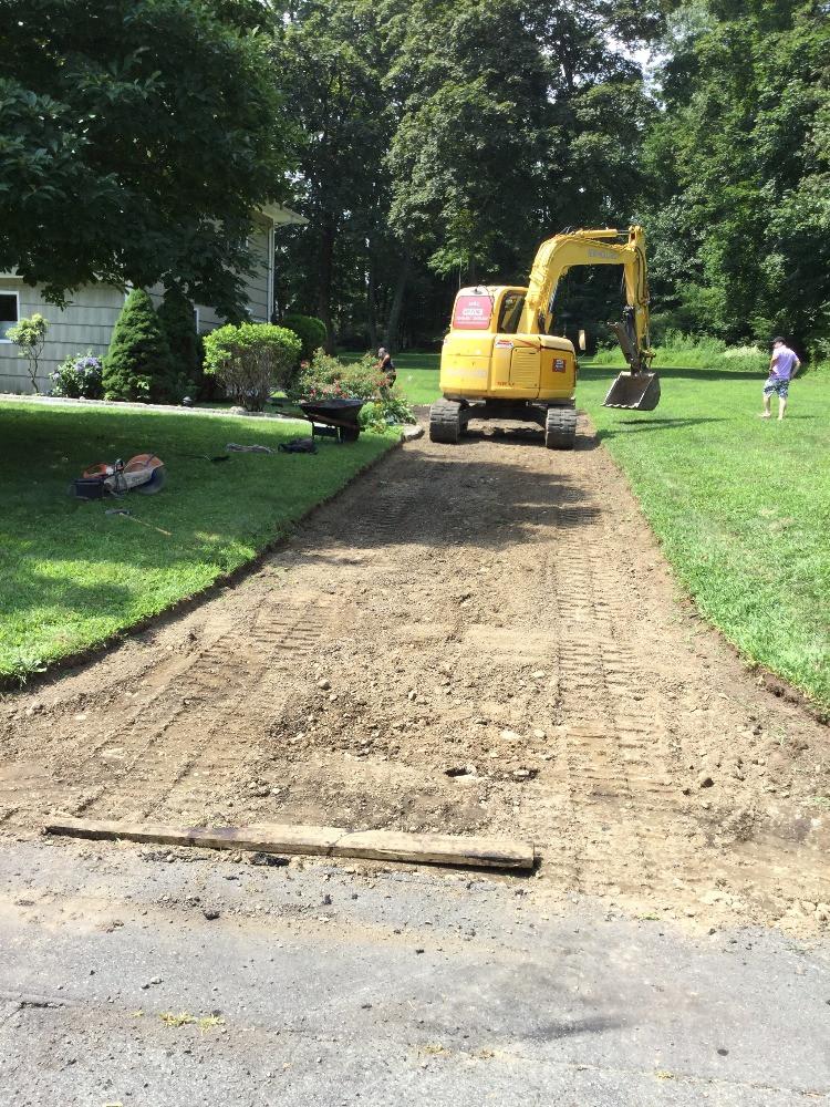 Excavation process.