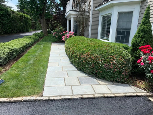 Flat stone After.